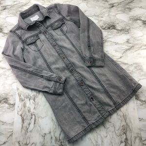 Childrens Place Grey Jean Chambray Shirt Dress 5/6